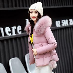 韩版加厚面包服宽松小棉袄外套