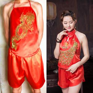 Trang phục biểu diễn thường niên của nam giới Trang phục cổ điển XL dành cho người lớn Apron Lady Couple Apron