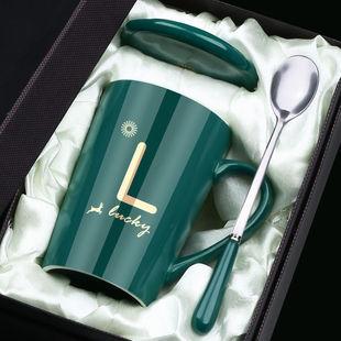 茶杯馬克杯帶蓋勺男女陶瓷杯子