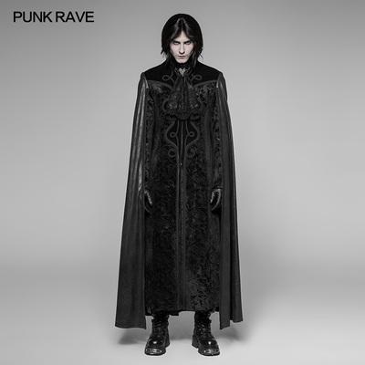 taobao agent PUNK RAVE Men's Retro Gothic Night Earl Vampire Cloak Long Jacket Gothic Halloween