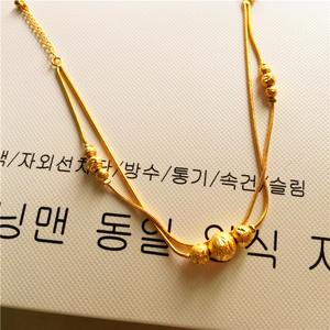 Euro tệ vàng chuyển hạt vòng chân nữ Nhật Bản và Hàn Quốc giả vàng fine rắn xương có thể điều chỉnh thời trang đồ trang sức hoang dã không phai