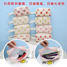 小飞象 D-451日系原创图硅胶水果印花化妆包笔袋(现货可做活动)