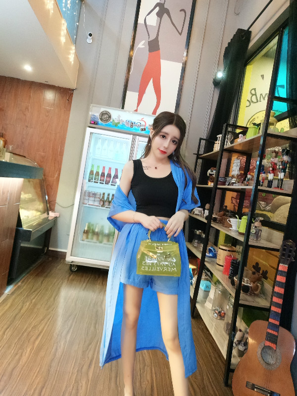 6170#实价实拍新款韩版短袖长款开衫外套+阔腿短裤(两件套)