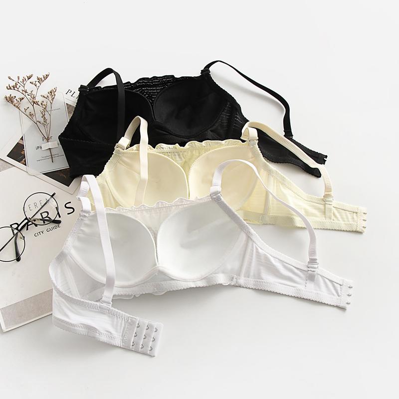 Đồ lót Hàn Quốc Áo lót nữ không có ống ngực Kiểu dáng hàng đầu Áo ngực tập hợp áo ngực nhỏ Ren được cắt tỉa mỏng Mùa hè chống quấn ngực - Ống