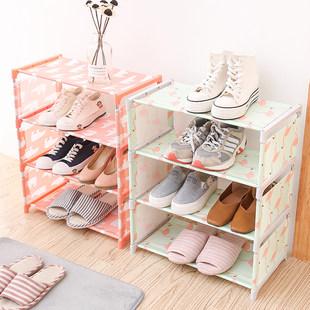 Легко обувная полка многослойный сборка провинция пространство домой хранение обувной ткань пыленепроницаемый многофункциональный комната с несколькими кроватями экономического типа