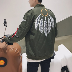 港风雷 电商A088-J17129-P65 100%涤纶 新款休闲夹克外套大码男装