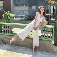 实拍9507巴厘岛沙滩裙女新款吊带连体裤海边度假仙长裙显瘦连衣裙