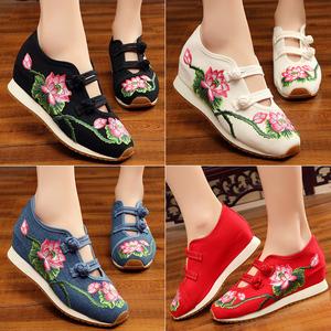 Của phụ nữ sneakers summer breathable giày thường giày vải của phụ nữ tăng giày của phụ nữ tuổi Bắc Kinh thêu giày vải phụ nữ