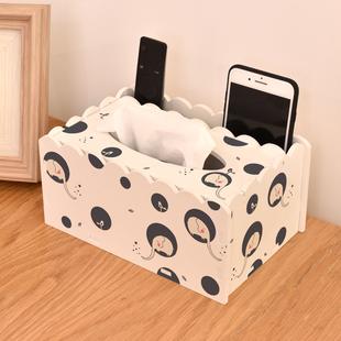 创意多功能桌面遥控器收纳纸巾盒