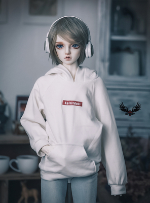 taobao agent 3 points/65/70 Uncle SD17 size BJD doll black and white 2 colors sweater hoodie top