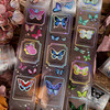 Butterfly dreamland matte pet waterproof hot rainbow silver tape hand account ins mobile phone shell transparent diy decorative film