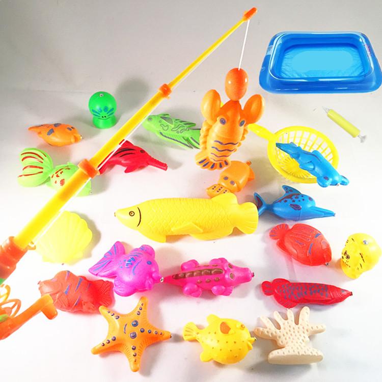 儿童钓鱼玩具双面磁性套装