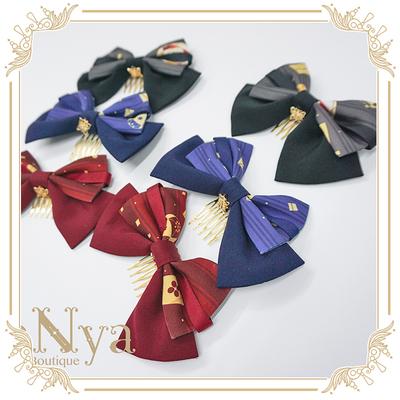 taobao agent 【Spot goods】NyaNya Huiya Rabbit Lolita original bow hair comb clip KC small things collection