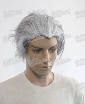 taobao agent Anime Wig COSPLAYJoJo Bizarre Adventure COS Kira Yoshikage Silver Grey One Piece Customized Fake Hair