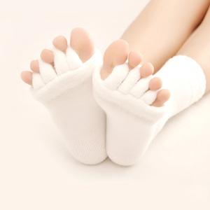 Khỏe mạnh ngủ năm ngón tay vớ sửa toe yoga năm ngón chân nhà khăn ống ngắn vớ nữ vớ thể thao