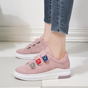 Chic Velcro nữ nền tảng 2018 mới của Hàn Quốc phiên bản của hoang dã dây đai tăng vải giày thường giày thể thao của phụ nữ