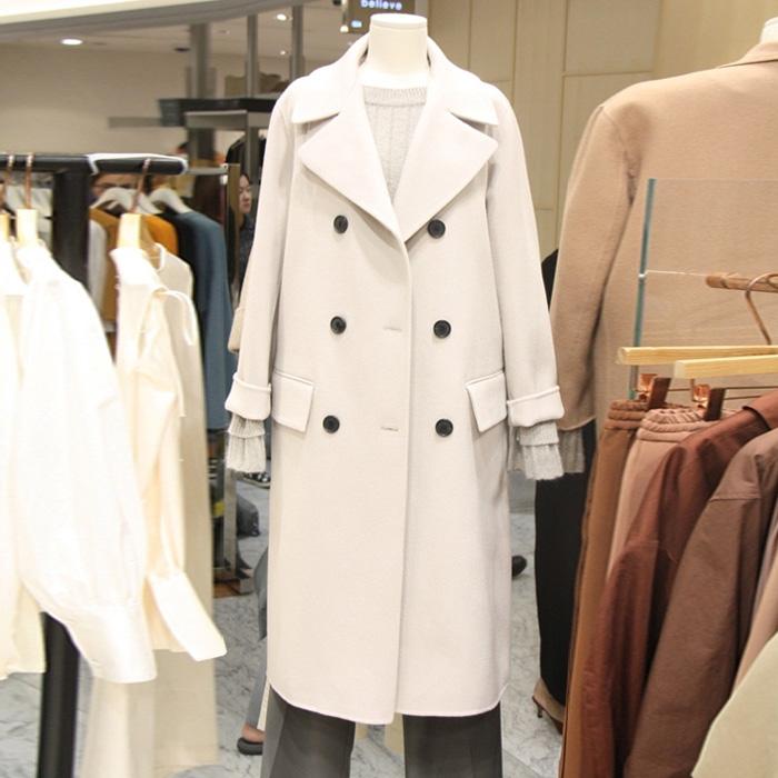 Dày ấm áo len của phụ nữ mùa thu và mùa đông phần dài mới 2017 Hàn Quốc phiên bản của ve áo tie áo len là mỏng