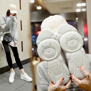 2018新款百搭韩版冬加绒季板鞋单鞋