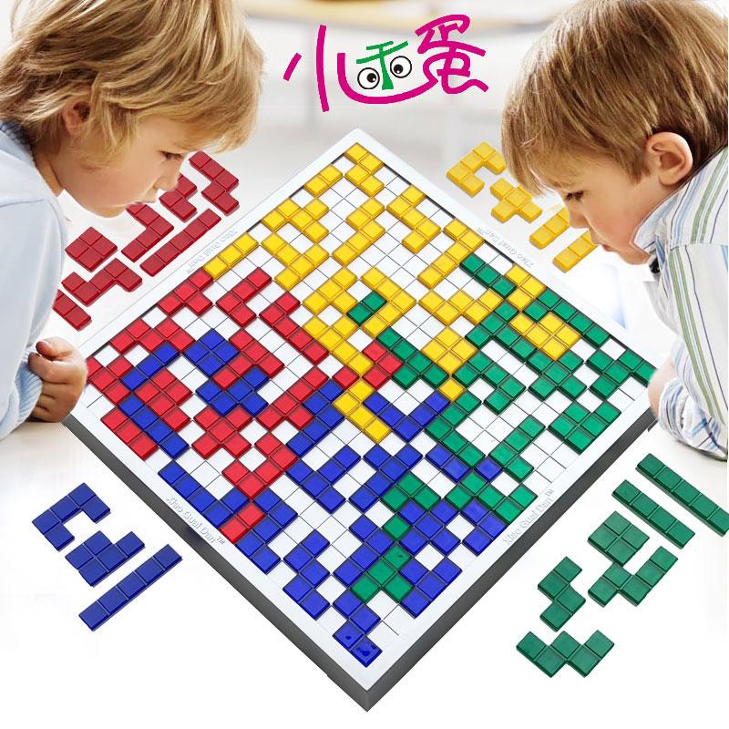 Đấu sĩ cờ vua 2-4 người vuông trò chơi trẻ em cờ vua cha mẹ và con tương tác câu đố máy tính để bàn đồ chơi Tetris