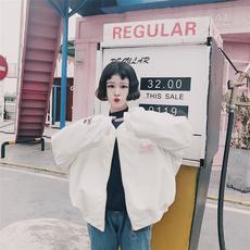 实拍实价~835#时尚卡通粉红豹pu刺绣棒球服夹克皮衣外套 (实拍)