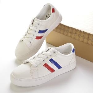 实拍 1953特价新款女鞋小白鞋韩版百搭夏季条纹休闲鞋运动鞋子