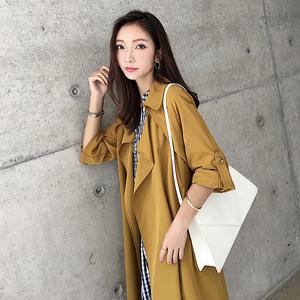 小 侨 JOFAY áo gió mùa thu quần áo nữ 2018 mới của Hàn Quốc phiên bản của áo dài tính khí phần mỏng áo ngắn