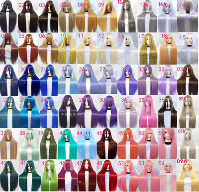 taobao agent Ten Nights Fable Cost Special Price Universal All-Colored Long Straight Hair 60cm 80cm One Meter COS Wig