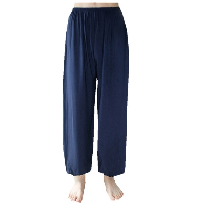 Nam giới và phụ nữ mô hình kích thước lớn quần âu cây ra hoa cotton knit loose bó sát quần yoga quần nhảy vuông