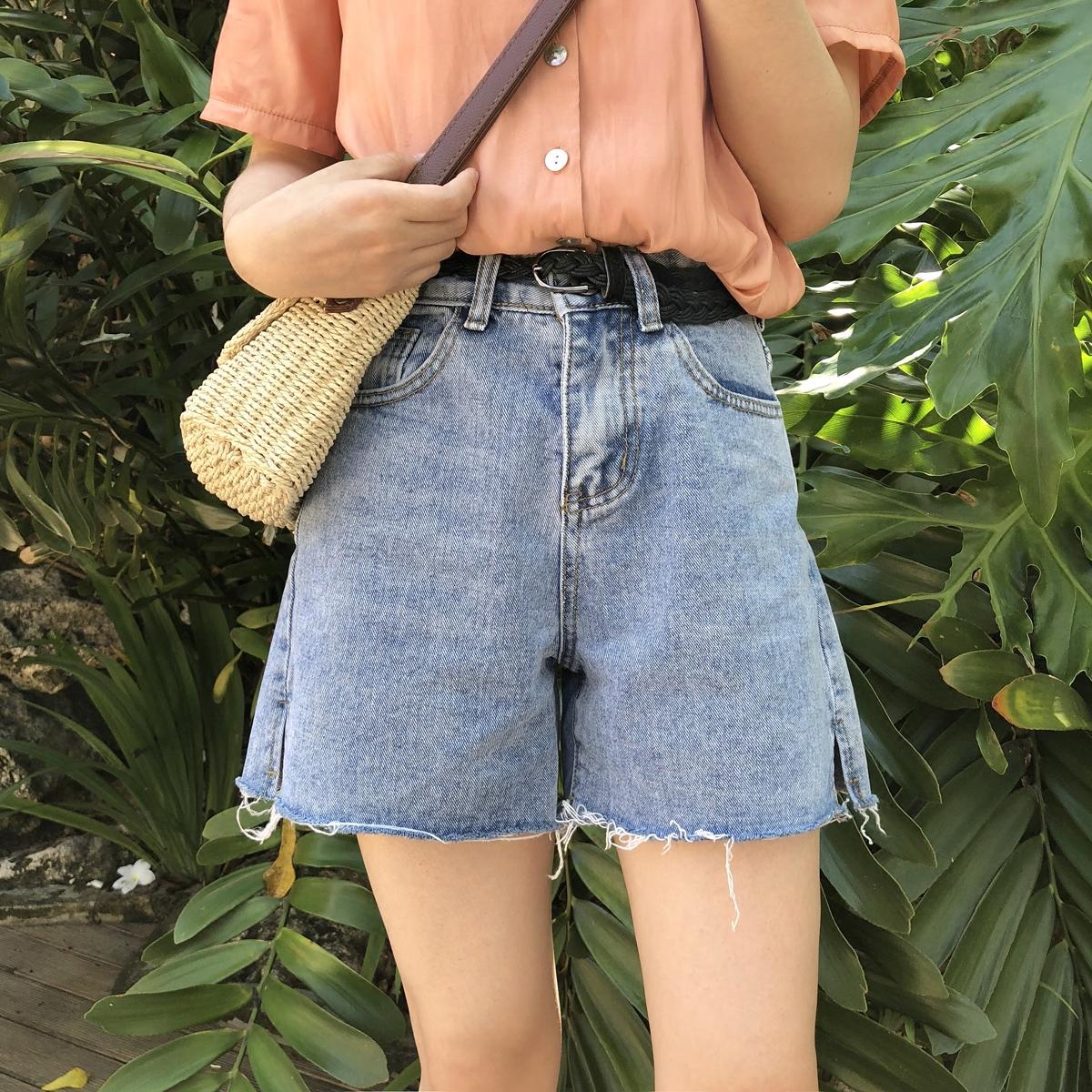 YUKI Xiaoshu nhà phổ biến trong năm nay nhỏ chia phần giữa quần jean mỏng quần short Hàn Quốc mùa hè mới k0440