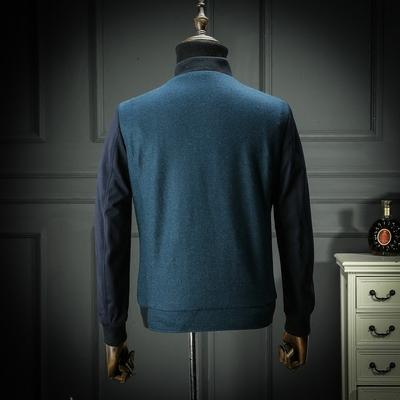 Trong nước duy nhất cắt tiêu chuẩn mùa xuân và mùa thu dày len áo khoác kinh doanh bình thường áo khoác nam áo khoác áo khoác cha Áo khoác