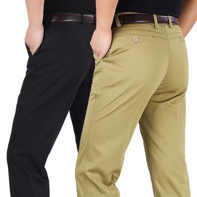 Mùa hè phần mỏng người đàn ông trung niên của linen quần lỏng quần trung niên quần âu nam quần cao eo daddy quần dài Quần