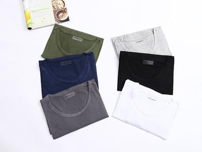 Của nam giới phần mỏng đáy áo mùa thu quần áo cộng với chất béo kích thước lớn vòng cổ thanh niên trung niên phương thức dài tay T-Shirt mùa hè ao thun nam dep Áo phông dài