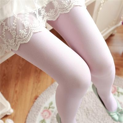防勾丝天鹅绒丝袜连裤袜女春夏季薄款踩脚袜子显瘦日系肉色打底袜