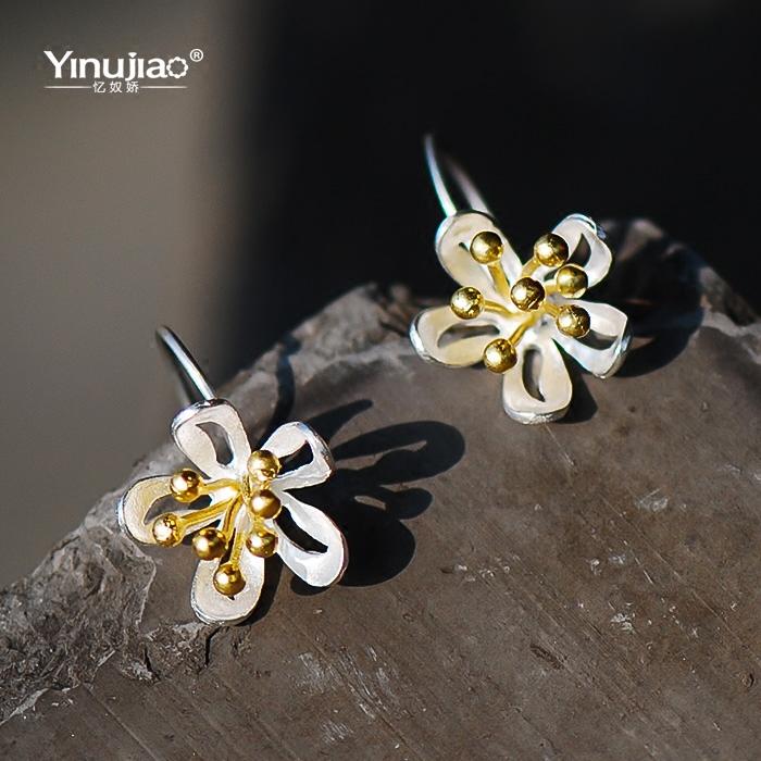 花蕊银饰耳环