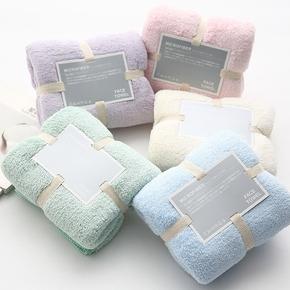 珊瑚绒强吸水纤维毛巾