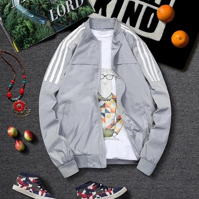 2018 áo mới mùa xuân và mùa thu quần áo giản dị trai phần mỏng xu hướng đẹp trai áo khoác nam mùa xuân áo gió Áo gió