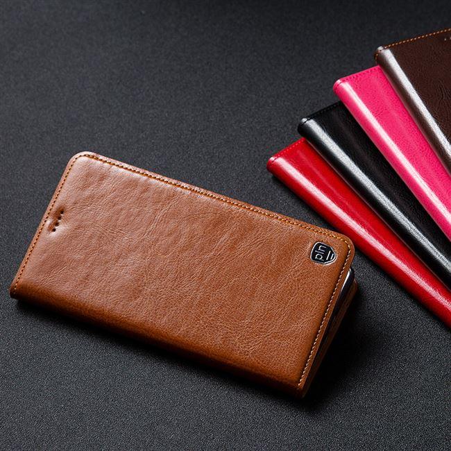 Redmi Note 6 Pro Deksel Skinn Liten Lærveske Mobiltelefon Rød Rabatt