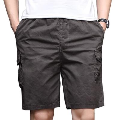Cha quần short nam mùa hè mặc bông lỏng phần mỏng trung niên 40 tuổi 50 trung niên thường năm- điểm quần