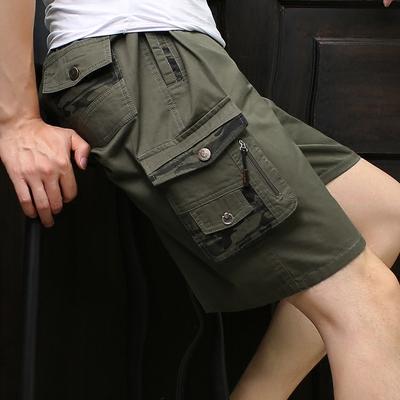 Trung niên và người già quần short trung niên nam cotton năm-quần cha quần bãi biển mùa hè kích thước lớn tuổi quần âu
