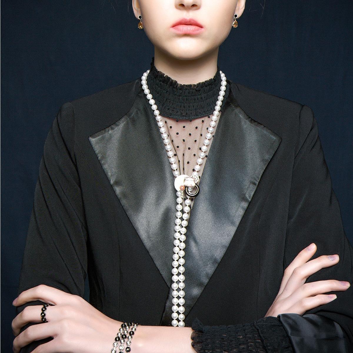 CASSIEVONG/诗无 旭和胸针、项链两戴 欧美风设计 原创轻奢限量款