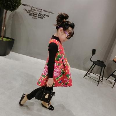 香港靓妞年设计师新风尚 新年款国民大床单印花连衣裙 背心裙
