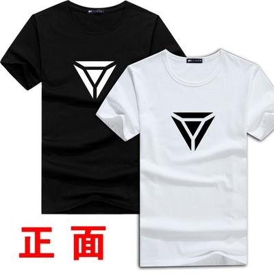 Xu giáo viên cửa hàng tạp hóa ngắn tay T-Shirt anh hùng League nam năm anh em màu đen mặc LOL5 người mở đen đội quần áo