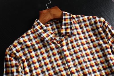 Phúc lợi mùa hè ăn mặc mỏng kẻ sọc áo sơ mi nam thời trang giản dị Mỏng nửa tay áo sơ mi ngắn tay cắt mark sơ mi họa tiết Áo