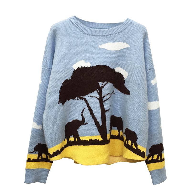 可爱甜美图案慵懒毛衣(可仿) - 壹一 - 壹一编织博客