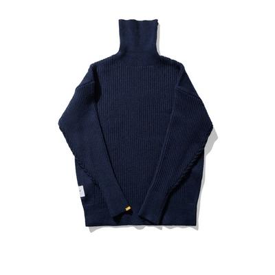 WINDERFLIES VÀ WINDINESS Rabbit Cashmere lõi lụa mùa đông nam rơi vai cao cổ áo len