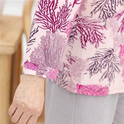 Bà tải mùa xuân tay áo 50-60-70 tuổi trung niên của phụ nữ mùa hè ngắn tay phù hợp với quần áo cũ Phụ nữ cao cấp