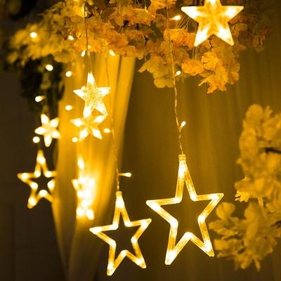 led星星灯ins少女心浪漫卧室房间布置梦幻宿舍装饰彩灯闪灯圆串灯