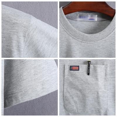Người đàn ông trung niên của ngắn tay T-Shirt cotton trắng lỏng mùa hè vòng cổ bất pocket trung niên cha nửa tay áo sơ mi
