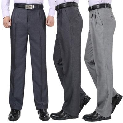 Mùa hè trung niên nam quần linen quần cao eo lỏng trung niên cha của phù hợp với đôi xếp li phù hợp với quần sâu tập tin miễn phí hot
