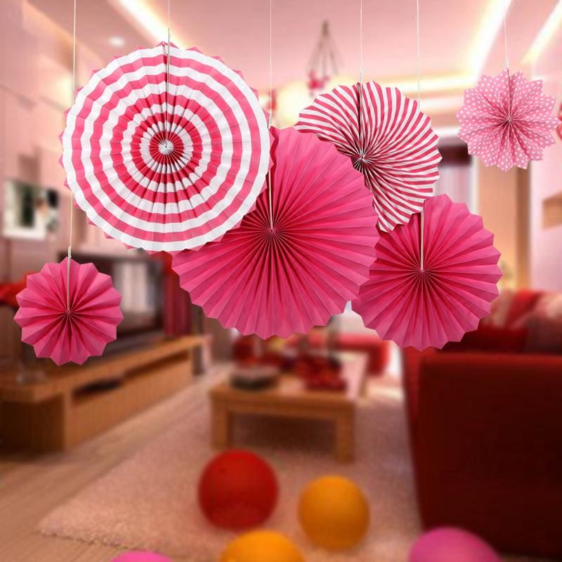 纸扇花店铺商场生日节日装饰吊饰